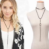 шерстяной шнур Ожерелье, с цинковый сплав, с 4lnch наполнитель цепи, плакирован серебром, не содержит никель, свинец, 260mm, длина:Приблизительно 20 дюймовый, 3пряди/Лот, продается Лот