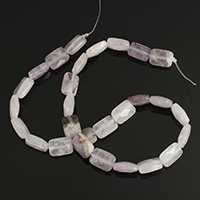Natural Amethyst Beads, Rectangle, 14x10.50x6mm, Hole:Approx 1.5mm, Approx 28PCs/Strand, Sold Per Approx 15.5 Inch Strand