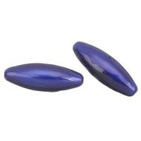 Бусины из медированного пластика, Пластик с медным покрытием, Овальная форма, эмаль, 65x23mm, отверстие:Приблизительно 2mm, продается PC