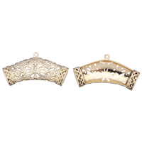 Zinc Alloy Scarf Slide Bail, real gold plated, hollow, lead & cadmium free, 45x23x9mm, Hole:Approx 1.5mm, 10x6mm, 10PCs/Bag, Sold By Bag