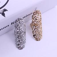 Кольца на весь палец, цинковый сплав, Другое покрытие, со стразами, Много цветов для выбора, не содержит свинец и кадмий, 20x55mm, размер:10, продается PC