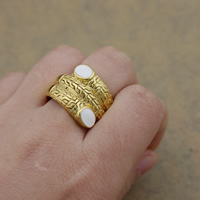 Enamel Stainless Steel Finger Ring gold color plated 18mm US Ring Size:8 10PCs/Lot