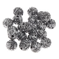 Antique Acrylic Beads, Round, imitation antique silver, 8mm, Hole:Approx 1mm, 200G/Bag, Sold By Bag