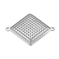 Металлические коннекторы , Железо, Ромбическая форма, Платиновое покрытие платиновым цвет, 1/1 петля, 37.50x28x7mm, отверстие:Приблизительно 1.5mm, 100ПК/Лот, продается Лот