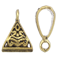Zinc Alloy Jewelry Bail antique gold color plated lead   cadmium free 10x15x6mm Hole:Approx 2mm 5x6mm Approx 1660PCs/KG
