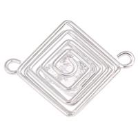 Металлические коннекторы , Железо, с Акрил, Ромбическая форма, Платиновое покрытие платиновым цвет, 1/1 петля, не содержит свинец и кадмий, 42x33x10mm, отверстие:Приблизительно 3mm, продается PC