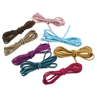 Velveteen Cord, more colors for choice, 2.60x1.50mm, 5PCs/Lot, 1Yard/PC, Sold By Lot