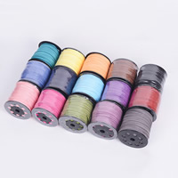 Velveteen Cord, double-sided, more colors for choice, 2.50x1.50mm, Length:100 Yard, Sold By PC