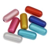 Cudowne akrylowe koraliki, Akryl, Kolumna, mieszane kolory, 7x17mm, otwór:około 1mm, około 850komputery/torba, sprzedane przez torba