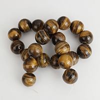 Natural Tiger Eye Beads, Round, 18mm, Hole:Approx 1.5mm, Approx 22PCs/Strand, Sold Per Approx 15 Inch Strand