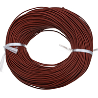 Cowhide Cord, deep red, nickel, lead & cadmium free, 2mm, Length:Approx 100 m, Sold By PC