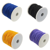 Elastic Thread, with plastic spool, more colors for choice, 1mm, 50m/Spool, Sold By Spool