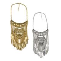 Мода себе ожерелье, цинковый сплав, с 2.7lnch наполнитель цепи, Другое покрытие, твист овал & чернеют, Много цветов для выбора, 90mm, длина:Приблизительно 17.7 дюймовый, 5пряди/Лот, продается Лот