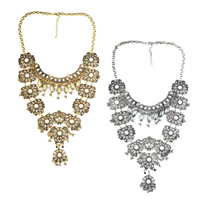 Мода себе ожерелье, цинковый сплав, с канифоль, с 2.7lnch наполнитель цепи, Другое покрытие, Роло цепь, Много цветов для выбора, 110mm, длина:Приблизительно 16.9 дюймовый, 5пряди/Лот, продается Лот