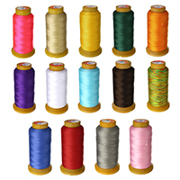 Sewing Thread, Nylon, with plastic spool, 3-yarn, more colors for choice, 0.2-0.3mm, 750m/PC, Sold By PC