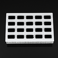 Plastic Ring Display, with Velveteen, Rectangle, stardust, 180x115x33mm, 5PCs/Lot, Sold By Lot