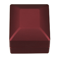 PU Single Ring Box, with Glue Film & Velveteen, Rectangle, red, 59.50x65x49mm, 5PCs/Lot, Sold By Lot