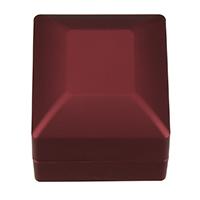 PU Pojedyncze pudełko na pierścionek, ze klej Film & Welwet, Prostokąt, czerwony, 59.50x65x49mm, 5komputery/wiele, sprzedane przez wiele