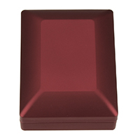 Velveteen Jewelry Set Box, PU, pendant & necklace, with Glue Film & Velveteen, Rectangle, red, 70x90x35.50mm, 5PCs/Lot, Sold By Lot