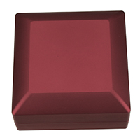 Leather Bracelet Boxes, PU, with Glue Film & Velveteen, Square, red, 99x99x49.50mm, 5PCs/Lot, Sold By Lot