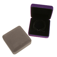 Velveteen Bracelet Box, with Glue Film, Square, more colors for choice, 93x93x36mm, 24PCs/Lot, Sold By Lot
