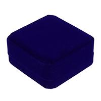 Pluszowe pudełko na bransoletkę, Welwet, ze klej Film, Kwadrat, niebieski, 91x91x44mm, 24komputery/wiele, sprzedane przez wiele