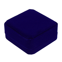 Velveteen Bracelet Box, with Glue Film, Square, blue, 91x91x44mm, 24PCs/Lot, Sold By Lot