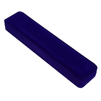 Velveteen Necklace Box, with Glue Film, Rectangle, blue, 55x247x30mm, 18PCs/Lot, Sold By Lot