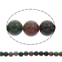 Natural Indian Agate Beads, Round, 12mm, Approx 33PCs/Strand, Sold Per Approx 15.5 Inch Strand