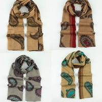 Voile Fabric Scarf, Rectangle, more colors for choice, 95x185cm, 5Strands/Bag, Sold By Bag