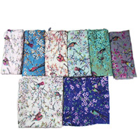 Voile Fabric Scarf, Rectangle, more colors for choice, 90x185cm, 5Strands/Bag, Sold By Bag
