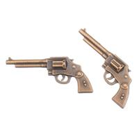 Ювелирные кабошоны из цинкового сплава, цинковый сплав, пистолет, плакированный цветом под старую медь, не содержит свинец и кадмий, 35x15x5mm, 100G/сумка, продается сумка