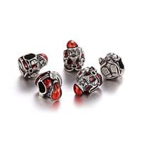 Pandor Kerst Kralen, Zinc Alloy, Kerstman, antiek zilver plated, Kerst sieraden & zonder troll & glazuur, nikkel, lood en cadmium vrij, 9x12mm, Gat:Ca 5mm, 50pC's/Lot, Verkocht door Lot