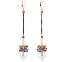 żelazo, ze Tworzywa ABS perła & Kryształ, Żelazko hak, Powlekane, kolorowany & fasetowany, bez zawartości ołowiu i kadmu, 91mm, sprzedane przez para
