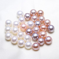 No Hole Cultured Freshwater Pearl Beads, Potato, natural, more colors for choice, 7.5-8mm, Sold By PC