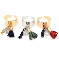 Decorative Tassel, Nylon, with Iron, gold color plated, more colors for choice, 21mm, Hole:Approx 4.5mm, 20PCs/Bag, Sold By Bag