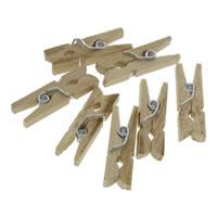 деревянный Клип, с цинковый сплав, Платиновое покрытие платиновым цвет, разный размер для выбора, 1000ПК/сумка, продается сумка
