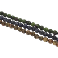Gemstone Jewelry Beads, Round, different materials for choice & faceted, 6mm, Hole:Approx 1mm, Length:Approx 14.5 Inch, 10Strands/Bag, Approx 62PCs/Strand, Sold By Bag