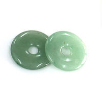 Green Aventurine Pendant, Flat Round, natural, 30x5mm, Hole:Approx 6mm, Sold By PC