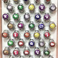 цинковый сплав Часы-кольцо, с бумага & Стеклянный, Платиновое покрытие платиновым цвет, созвездие ювелирные изделия & смешанная картина & Эпоксидная стикер, не содержит никель, свинец, размер:6-10, 10ПК/Лот, продается Лот