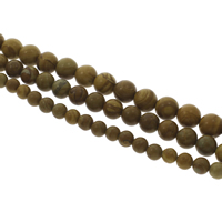 Natural Grain Stone Beads, Round, different size for choice, Hole:Approx 1mm, Length:Approx 14.5 Inch, 10Strands/Bag, Sold By Bag