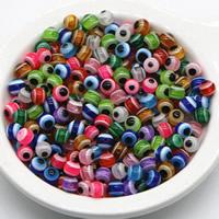 Koraliki z żywicy Zło Eye, żywica, Koło, różnej wielkości do wyboru, mieszane kolory, otwór:około 2mm, 1000komputery/torba, sprzedane przez torba