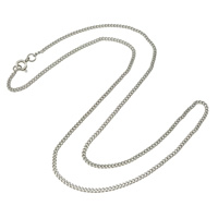 Stainless Steel Chain Necklace curb chain original color 2x3x1mm Length:Approx 17 Inch 50Strands/Lot
