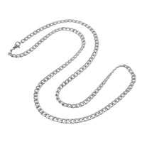 Stainless Steel Chain Necklace twist oval chain   for man original color 4x6x1mm Length:Approx 23 Inch 50Strands/Lot