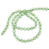 Natural Prehnite Beads, Round, different size for choice, Hole:Approx 1-2mm, Sold Per Approx 16 Inch Strand