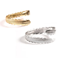 Zinc Alloy Armlet, Feather, plated, open & for woman, more colors for choice, nickel, lead & cadmium free, 20mm, Inner Diameter:Approx 80mm, Length:Approx 9.8 Inch, Sold By PC