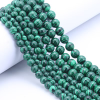 Malachite Beads, Round, different size for choice, Hole:Approx 1mm, Length:Approx 15 Inch, Sold By Bag