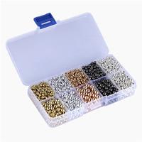 Бусины из медированного пластика, Пластик с медным покрытием, с пластиковая коробка, Прямоугольная форма, Другое покрытие, разноцветный, 4mm, 6mm, 22x65x130mm