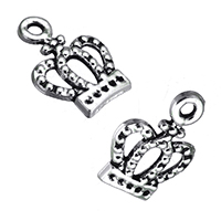 Zinc Alloy Pendant Rhinestone Setting Crown antique silver color plated nickel lead   cadmium free 10x14x1mm Hole:Approx 1.5mm Inner Diameter:Approx 1mm 1000PCs/Lot