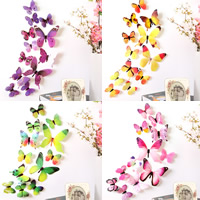 Fridge Magnets, Soft PVC, with Magnetic Hematite, Butterfly, more colors for choice, 60-110mm, 12PCs/Bag, Sold By Bag